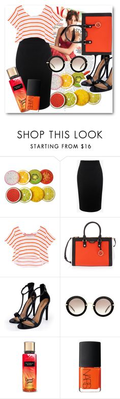 """Orane"" by black-hearted ❤ liked on Polyvore featuring Alexander McQueen, Rebecca Minkoff, Henri Bendel, Boohoo, Miu Miu, Victoria's Secret, NARS Cosmetics, orange, BusinessWoman and citystyle"