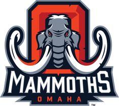Omaha Mammoths Primary Logo (2014) - Gfx Design, Game Logo Design, Fantasy Logo, American Logo, Logo Character, Gym Logo, Esports Logo, Sports Team Logos, Elephant Logo