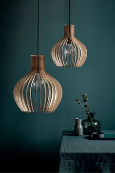 Nordlux Groa 40 Wood Ceiling Pendant Light Nordlux Groa 40 is a beautifully made, slatted wooden ceiling pendant light. As light passes through to the curve Wood Ceilings, Wooden Shades, Wooden Pendant Lighting, Cage Pendant, Nordlux, Lamp Decor, Wooden Ceilings, Modern Ceiling, Wood Pendant Light