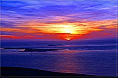 Coucher de soleil  dunes du pilât