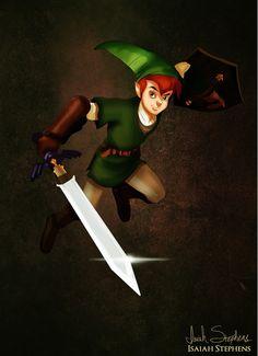 Peter Pan disfrazado de Link