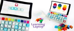 Learn and Play with the Learning Laptop Pattern From Imagine Our Life