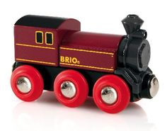 Brio Steam Engine BRI-33616 This old fashioned six wheeled steam engine is fuelled with the power of any childs imagination. Attach to any wagon of your choice with the magnetic couplings in the front and back.... (Barcode EAN=7 http://www.MightGet.com/january-2017-12/brio-steam-engine-bri-33616.asp