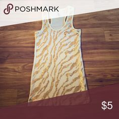Gold leopard print tank tank top $5 with bundle Tops Tank Tops