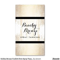 20 best business cards for spray tanning salons images on pinterest golden bronze confetti dots spray tanning salon business card colourmoves
