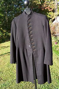 Men's Black Wool Frock Coat ca 1910, Masonic Goth Steam Punk REDUCED