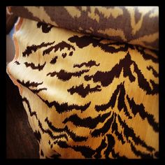 Scalamandre Tiger silk velvet... Probably one of the most gorgeous textiles ever made.