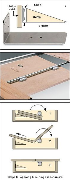 Tube-Hinge Leaf-Mount Mechanism - Lee Valley Tools