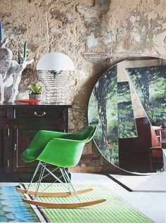 eames rocking chair green. efter stormen: eames rocking chair y un sorteo / eames green a