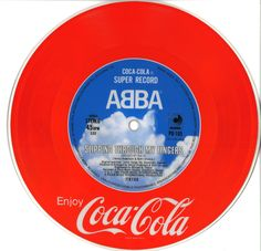 1981 promotional 45 for Coca Cola by the band Abba flip side