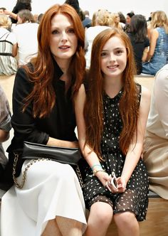 Julianne Moore and her daughter Liv Helen.