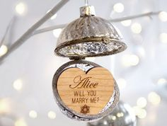 wedding proposal ornament
