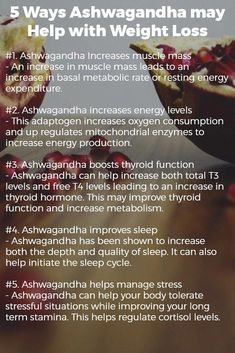 Benefits of Ashwagandha: Weight Loss, Thyroid, Adrenal Function & More 5 Ways Ashwagandha may Help with Weight Loss Quick Weight Loss Tips, Weight Loss Help, Weight Loss Plans, Weight Loss Program, How To Lose Weight Fast, Losing Weight, Reduce Weight, Diet Program, Lose Weight Naturally