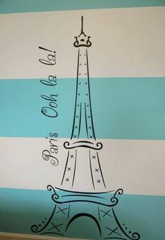 Parisian Eiffel Tower Bedroom Decals