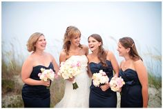 Navy blue and pink - wedding | Landon Jacob Photography