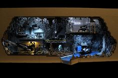 """) Batcave diorama, assembled by """"Brothers Brick"""" (a. Carlyle Livingston II & Wayne Hussey), took 800 hours to assemble and over LEGO! It also weighs over 100 pounds! Batman Em Lego, Batman Batcave, Batman Stuff, Lego Dc, Livingston, Geeks, Marvel Dc, Lego Marvel, Lego Builder"""