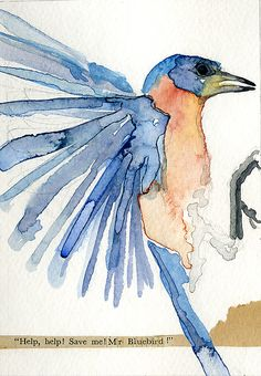 blue bird of happiness --love the movement of this picture!