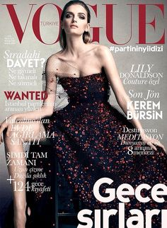 Lily Donaldson by David Slijper for Vogue Turkey December 2014 wearing Armani Prive. More Great Looks Like This