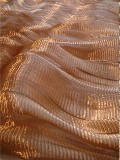 sophie mallebranche 二 esprit vague or tissu fabric gold waves Textile Texture, Fabric Textures, Textures Patterns, Design Textile, Beige Aesthetic, Fabric Manipulation, Photo Backgrounds, Color Inspiration, In This World