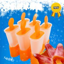 Lolly Mould Tray Pan Kitchen Randomly color 6 Cell Frozen Ice Cube Molds Popsicle Maker  DIY Ice Cream Tools Cooking tools(China (Mainland))