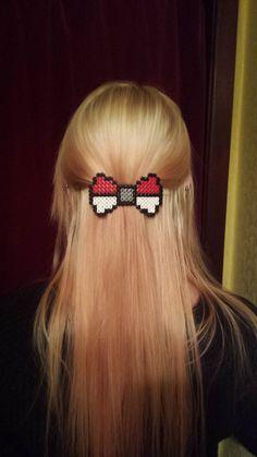 Items similar to Pokemon Pokeball Themed Barrette Hair clip Bow on Etsy Pearler Bead Patterns, Perler Patterns, Nerd Crafts, Cute Crafts, Hair Barrettes, Hair Bows, Pokemon Craft, Nintendo Pokemon, Pokemon Perler Beads