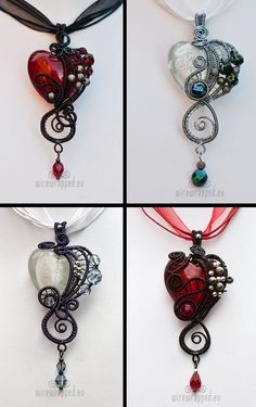 Wire wrapped hearts