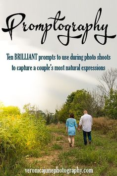 Promptography - Ten Brilliant prompts to use during photo shoots to capture a couple's most natural expressions. Nature Photography Tips, Photography Basics, Photography Lessons, Photography Editing, Photography Tutorials, Photography Business, Couple Photography, Digital Photography, Amazing Photography