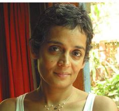 Arundhati Roy, an Indian author and political activist Small Things, Dreads, Authors, Retro Fashion, Street Styles, Pixie, Writer, Bob, Faces