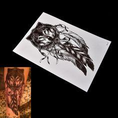 Wolf Dreamcatcher Tattoo //Price: $6.49 & FREE Shipping //     #tattoofonts