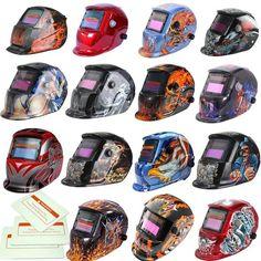 Pro Solar Auto Darkening Welding Helmet + 3 Lens Tig Mask Grinding Welder Mask…