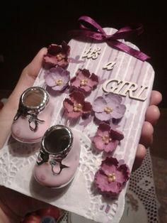 Tag do prezentu dla nowo narodzonej córeczki mojej przyjaciółki.