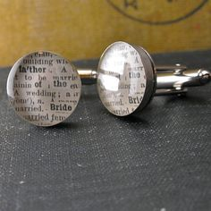 Father of the Bride Dictionary Sterling Silver Round by dlkdesigns