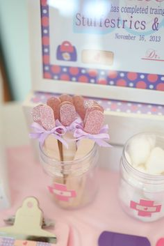 Doc McStuffins Inspired Tongue Depressors by SweetlyChicEvents on Etsy https://www.etsy.com/listing/185093116/doc-mcstuffins-inspired-tongue