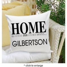 HOME Is Where Our Story Begins Personalized Throw Pillow