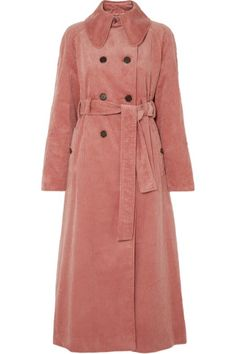 Pink cotton-blend corduroy Button fastenings through double-breasted front cotton, polyester Dry clean Designer color: Dusky Rose Stylish Work Outfits, New Outfits, Fashion Outfits, Fashionable Outfits, Fashion Ideas, Fashion Trends, Poppy Delevingne, Jane Birkin, Jackie Kennedy