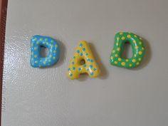 Salt Dough Dad Magnets