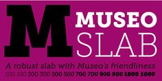 Flat Font Suggestions - Museo Slab.