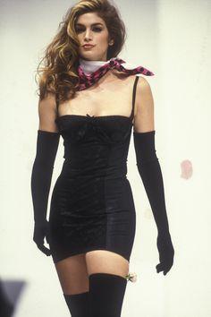 Cindy Crawford - Dolce & Gabbana Ready-To-Wear Spring/Summer 1992.