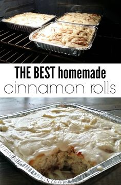 The best cinnamon rolls you will ever eat! The best cinnamon rolls you will ever eat! Köstliche Desserts, Dessert Recipes, Best Cinnamon Rolls, Homemade Cinnamon Rolls, Homemade Rolls, Breakfast Desayunos, Strudel, How Sweet Eats, Scones