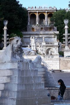 La piazza del Popolo - Rome, Italy. The peoples plaza. We loved this one, lots of children playing.