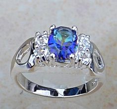 FIRE RAINBOW TOPAZ STERLING SILVER RING