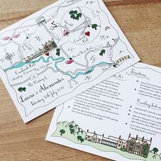 Wedding directions map