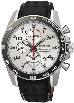 Seiko Sportura SNAF35P1 Amazing Watches, Cool Watches, Watches For Men, Seiko Sportura, Affordable Watches, Seiko Watches, Casio Watch, Stainless Steel Case, Chronograph