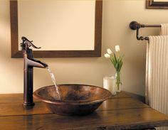 Pfister GT40-YP0 Ashfield Waterfall Bathroom Vessel Faucet