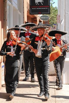 Mariachis at a wedding, Santa Fe
