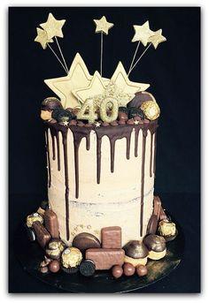 Beautiful Photo of 40 Birthday Cake . 40 Birthday Cake Mocha Chocolate Drip Cake For Birthday Recipes To Cook In 40th Birthday Cake Topper, Birthday Cake For Him, 40th Cake, Birthday Desserts, Cool Birthday Cakes, Birthday Recipes, Birthday Decorations, 16th Birthday, Cake Icing
