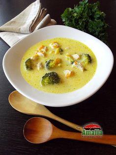 Ciorba de pui cu morcovi si broccoli