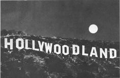 """Peg Entwistle and the Suicide From Letter """"H"""". Now is the HOLLYWOOD sign."""