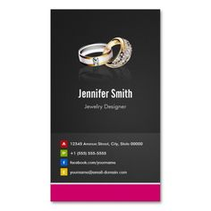 32 best jewelry business card images on pinterest business cards ring design jeweler jeweller jewelry jewellery business card template accmission Gallery