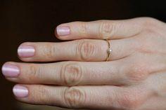 Solitaire Diamond Ring Tiny Diamond Ring Simple by MinimalVS